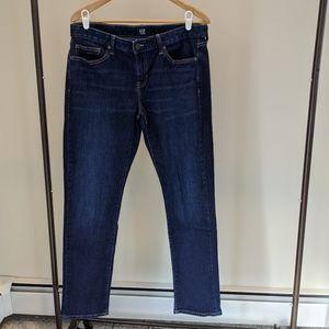 Gap mid wash blue denim real straight jeans